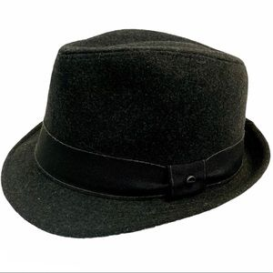 Stetson Men's Fedora Hat Black Wool Blend L/XL